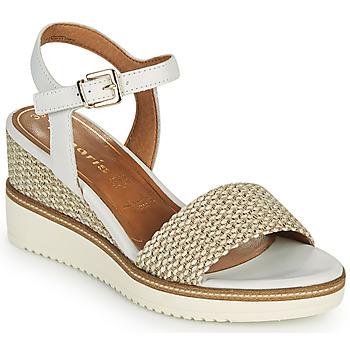 Chaussures Femme Sandales et Nu-pieds Tamaris ALIS Blanc / Beige