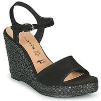 Chaussures Femme Sandales et Nu-pieds Tamaris CYNARA Noir