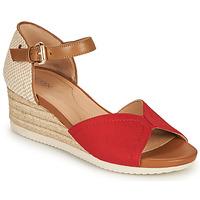 Chaussures Femme Sandales et Nu-pieds Geox D ISCHIA CORDA D Rouge / Cognac