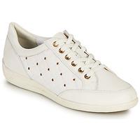Chaussures Femme Baskets basses Geox D MYRIA H Blanc / Doré