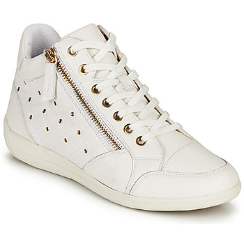 Chaussures Femme Baskets montantes Geox D MYRIA G Blanc