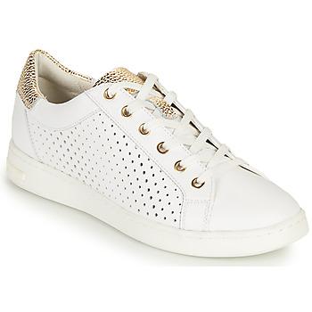 Chaussures Femme Baskets basses Geox D JAYSEN B Blanc / Doré