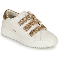 Chaussures Femme Baskets basses Geox D PONTOISE C Blanc / Doré