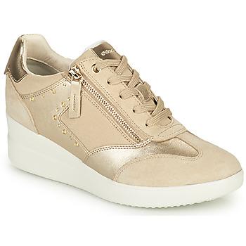 Chaussures Femme Baskets montantes Geox D STARDUST B Beige