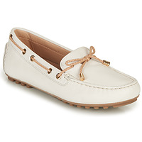 Chaussures Femme Mocassins Geox D LEELYAN C Blanc / Beige