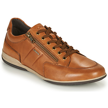 Chaussures Homme Baskets basses Geox U TIMOTHY C Cognac