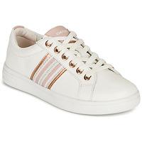 Chaussures Fille Baskets basses Geox DJROCK GIRL Blanc / Rose