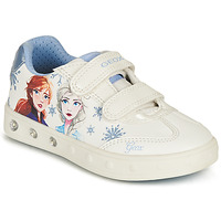 Chaussures Fille Baskets basses Geox J SKYLIN GIRL E Blanc / Bleu