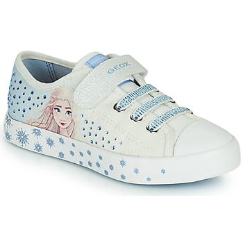 Chaussures Fille Baskets basses Geox JR CIAK GIRL Blanc / Bleu