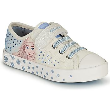 Chaussures Fille Baskets basses Geox JR CIAK GIRL Blanc / Bleu