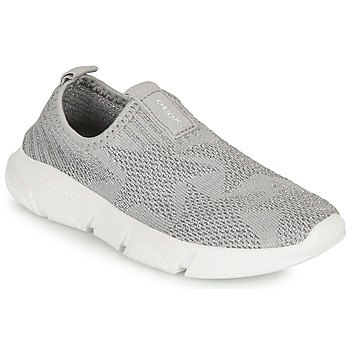 Chaussures Fille Slip ons Geox J ARIL GIRL A Gris