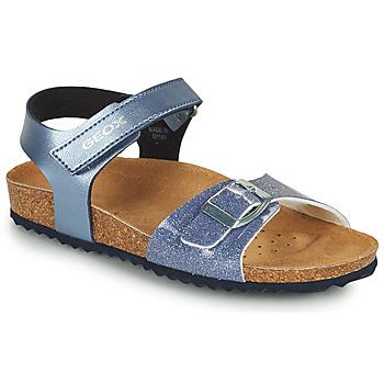 Chaussures Fille Sandales et Nu-pieds Geox ADRIEL GIRL Bleu
