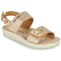 Chaussures Fille Sandales et Nu-pieds Geox SANDAL COSTAREI GI Doré