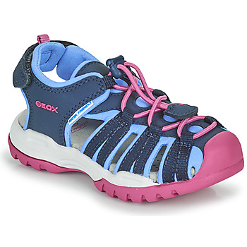 Chaussures Fille Sandales sport Geox BOREALIS GIRL Bleu / Rose