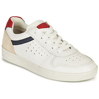Chaussures Garçon Baskets basses Geox J DJROCK BOY A Blanc / Marine / Rouge