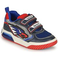 Chaussures Garçon Baskets basses Geox INEK BOY Bleu / Rouge