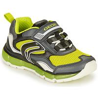 Chaussures Garçon Baskets basses Geox ANDROID BOY Gris / Lime