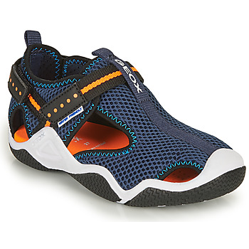 Chaussures Garçon Sandales sport Geox JR WADER Marine / Orange