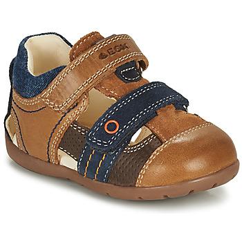 Chaussures Garçon Sandales et Nu-pieds Geox KAYTAN Marron / Marine