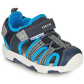 Chaussures Garçon Sandales sport Geox SANDAL MULTY BOY Bleu