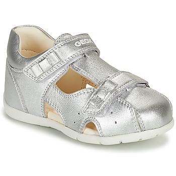 Chaussures Fille Sandales et Nu-pieds Geox KAYTAN Argenté