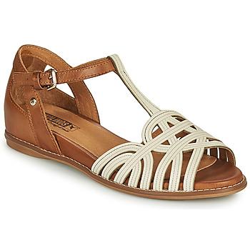 Chaussures Femme Sandales et Nu-pieds Pikolinos TALAVERA W3D Blanc / Marron