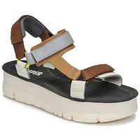 Chaussures Femme Sandales et Nu-pieds Camper ORUGA UP Marron / Gris