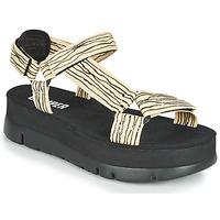 Chaussures Femme Sandales et Nu-pieds Camper ORUGA UP Noir / Beige