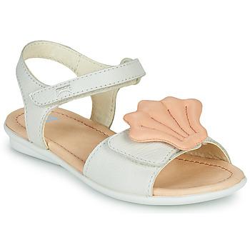 Chaussures Fille Sandales et Nu-pieds Camper TWINS Rose / Blanc