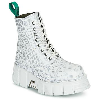 Chaussures Boots New Rock M-MILI083C-V9 Blanc