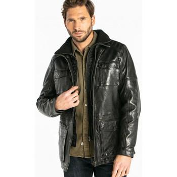 Vêtements Homme Vestes en cuir / synthétiques Daytona RODEO+IC LAMB PAOLO BLACK Noir