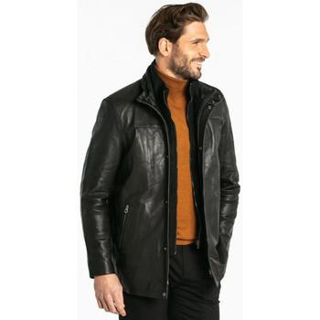 Vêtements Homme Vestes en cuir / synthétiques Daytona BALZAC IC COW AIR MILLED BLACK Noir
