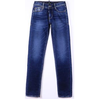 Vêtements Garçon Jeans Little Cerise Jeans slim blue jogg bleu n°1 BLUE