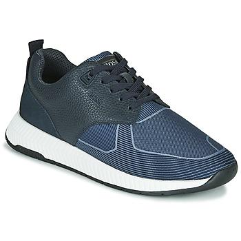 Chaussures Homme Baskets basses BOSS Titanium_Runn_tbjq 10232903 Bleu