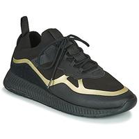 Chaussures Homme Baskets basses BOSS TITANIUM RUNN KNTH Noir / Doré