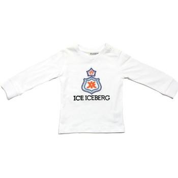 Vêtements Garçon T-shirts manches longues Iceberg TSICE0316B blanc