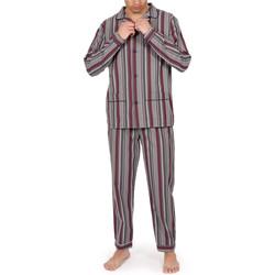 Vêtements Homme Pyjamas / Chemises de nuit Admas For Men Tenue d'intérieur pyjama pantalon Garnet Stripes gris Admas Gris