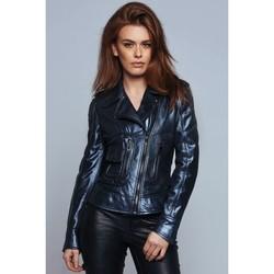 Vêtements Femme Blousons Ladc Georgia Metalic Bleu Métalic
