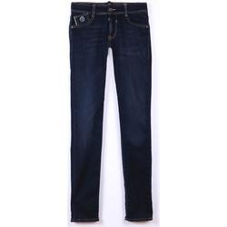 Vêtements Garçon Jeans Little Cerise Jeans slim blue jogg bleu-noir n°1 BLUE / BLACK