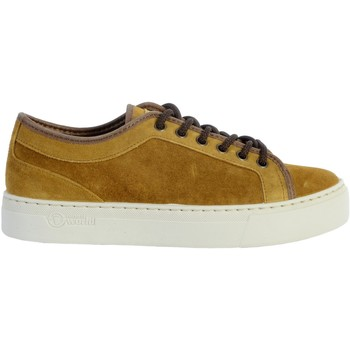 Chaussures Femme Baskets basses Natural World Basket NW On Suede Or