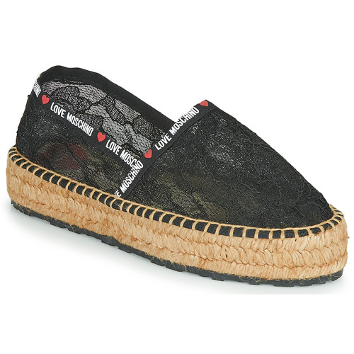 Chaussures Femme Espadrilles Love Moschino JA10373G1C Noir