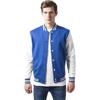 Vêtements Homme Vestes de survêtement Urban Classics Veste Urban Classic 2-tone college sweat bleu marine/gris