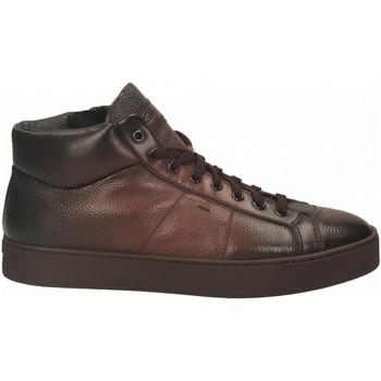Chaussures Homme Baskets montantes Santoni POLAC.8OCC. ZIP BASKET cioccolato