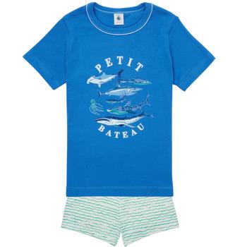 Vêtements Garçon Pyjamas / Chemises de nuit Petit Bateau MAYONNAISE Multicolore
