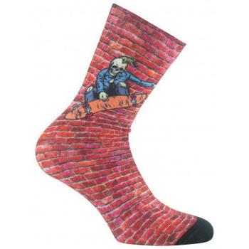 Accessoires Enfant Chaussettes Kindy Mi-chaussettes imprimées SKATE Rouge