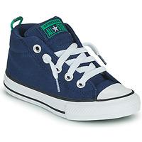 Chaussures Garçon Baskets montantes Converse CHUCK TAYLOR ALL STAR STREET CANVAS COLOR MID Bleu