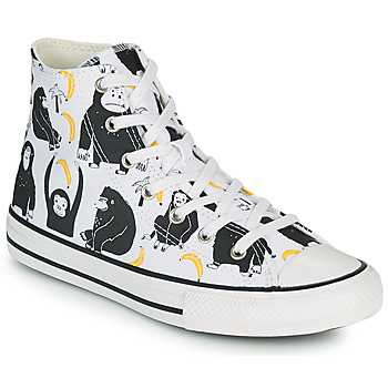 Chaussures Enfant Baskets montantes Converse CHUCK TAYLOR ALL STAR JUNGLE FUN HI Blanc / Multicolore