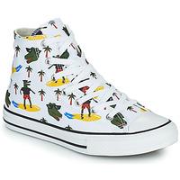 Chaussures Garçon Baskets montantes Converse CHUCK TAYLOR ALL STAR CROCO SURF HI Blanc / Vert