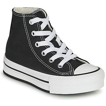 Chaussures Fille Baskets montantes Converse CHUCK TAYLOR ALL STAR EVA LIFT CANVAS COLOR HI Noir