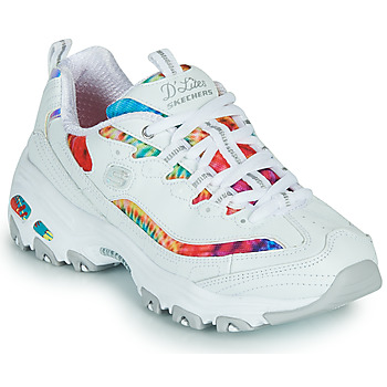 Chaussures Femme Baskets basses Skechers D'LITES SUMMER FIESTA Blanc / Multicolore